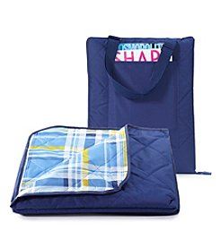 LivingQuarters All Weather Blue Plaid Blanket