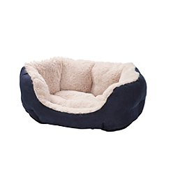 John Bartlett Pet® Small Navy Round Cuddler Pet Bed