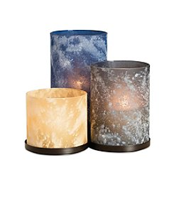 The Pomeroy Collection Decorative Hurricane Candle Holder Set