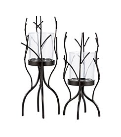 The Pomeroy Collection Graduated Size Votive Holders With Decorative Branches