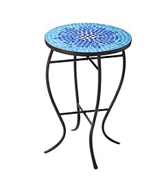 LivingQuarters Lake Collection Round Mosaic Table