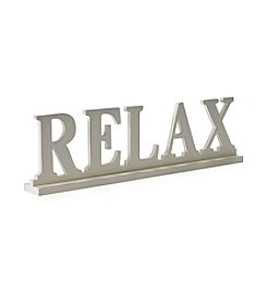 LivingQuarters Lake Colletction Relax Sign