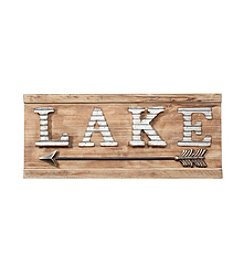 LivingQuarters Lake Collection Lake Plaque