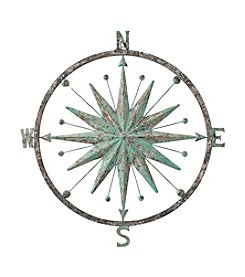 LivingQuarters Lake Collection Metal Wall Compass