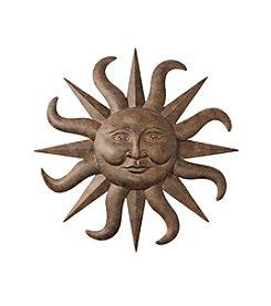 LivingQuarters Lake Collection Metal Sun