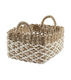 LivingQuarters Lake Collection Large Seagrass Basket