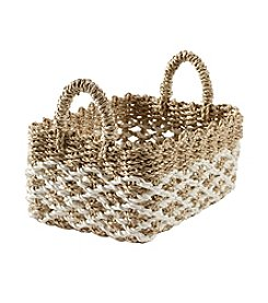 LivingQuarters Lake Collection Small Seagrass Basket