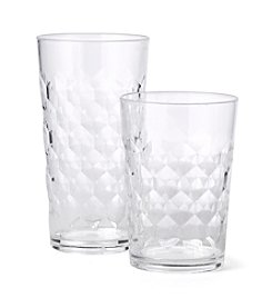 LivingQuarters Lake Collection Textured Tumbler or Highball Glass