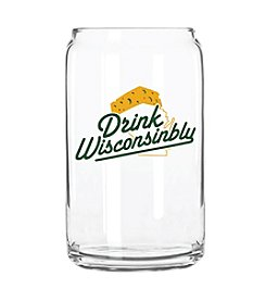 30 Watt Drink Wisconsinbly® Cheesehead Glass Can