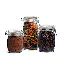 LivingQuarters 3-pc. Hermetic Canister Set
