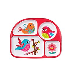 LivingQuarters Melamine Sectioned Birdie Plate