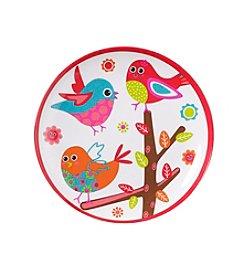 LivingQuarters Melamine Birdie Plate