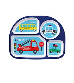LivingQuarters Melamine Cars And Trucks Sectioned Plate