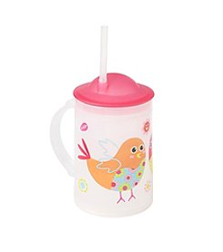 LivingQuarters Birdie Mug With Straw