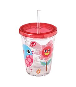 LivingQuarters Birdie Tumbler With Straw