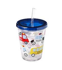 LivingQuarters Cars And Trucks Tumbler With Straw