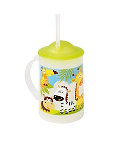 LivingQuarters Zoo Animals Mug With Straw