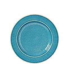LivingQuarters Aqua Melamine Dinner Plate