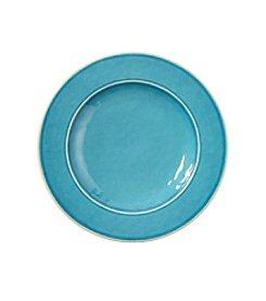LivingQuarters Aqua Melamine Salad Plate