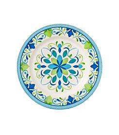 LivingQuarters Medallion Melamine Dinner Plate