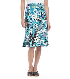 Notations® Petites' Floral Print Skirt