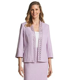 Alfred Dunner® Petites' Lavender Fields Cut Out Jacket