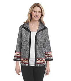 Alfred Dunner® Petites' Port Antonio Textured Border Jacket