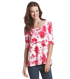 Fever™ Tie Dye High-Low Tunic