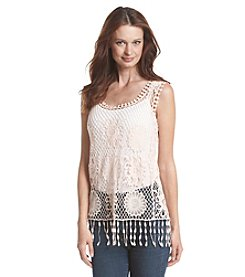 Fever™ Crochet With Fringe Tank