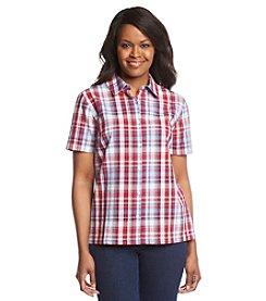 Breckenridge® Petites' Plaid Texture Woven Shirt
