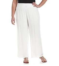 AGB® Plus Size Gauze Pants