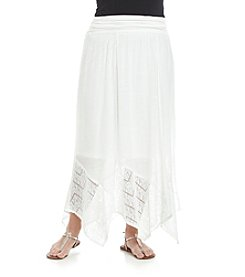 AGB® Plus Size Gauze Skirt