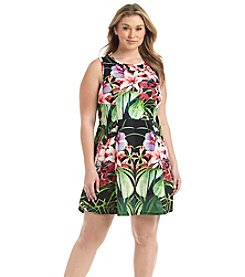 Chelsea & Theodore® Plus Size Floral Print Fit And Flare Dress