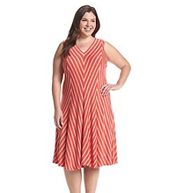 Chelsea & Theodore® Plus Size Chevron Print Dress