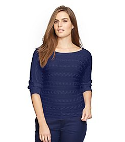 Lauren Ralph Lauren® Plus Size Cable-Knit Dolman Sweater