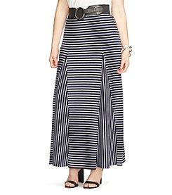 Lauren Ralph Lauren® Plus Size Striped Jersey Maxi Skirt