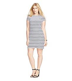 Lauren Ralph Lauren® Plus Size Striped Stretch Tee Dress