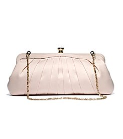 La Regale® Satin Pleated Frame Clutch