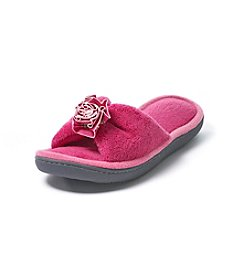 Isotoner Signature® Cabanas Microterry Flower Slide Slippers