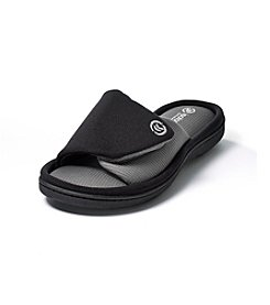 Isotoner Signature® Active Matte Satin Adjustable Slide Slippers