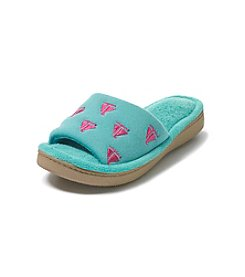 Isotoner Signature® Cabanas Pique Knit Slide Slippers