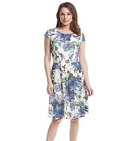 Ronni Nicole® Burnout Floral Patterned Dress