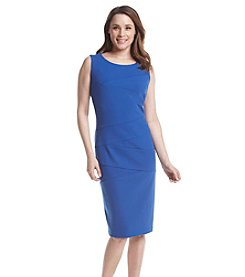 Ronni Nicole® Blue Splice Scuba Sheath Dress