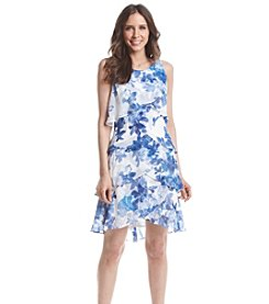 S.L. Fashions Tiered Floral Patterned Dress