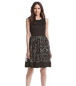 Ronni Nicole® Ribbon Patterned Keyhole Party Dress