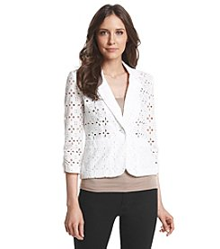 Madison Leigh® Eyelet Blazer
