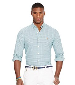 Polo Ralph Lauren® Men's Long Sleeve Checked Oxford Shirt