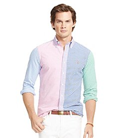 Polo Ralph Lauren® Men's Long Sleeve Multi-Gingham Oxford Shirt