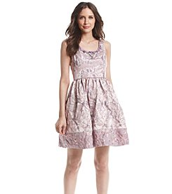 Adrianna Papell® Metallic Jacquard Dress