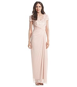 Adrianna Papell® Chiffon And Lace Gown